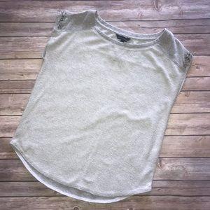 Rock & Republic Gray Sweater Short Sleeve